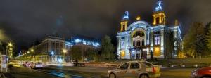 Cluj-Napoca la nuit.